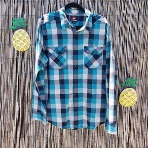EUC Quicksilver plaid shirt